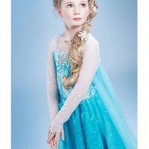 Fantasia Vestido Luxo Frozen Elsa E Anna. Pronta Entrega!