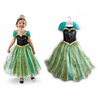 Fantasia Vestido Frozen Disney Anna + Tiara Pronta Entrega