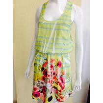 Vestido Flores Com Listras Dressto - G - Tenho Antix E Farm