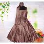 Vestido Infantil Festa/princesa/dama 12,14,16 Echarpe Brinde
