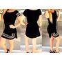 Vestido Feminino Pedraria Curto Manga Curta Instagram Chique