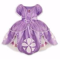 Vestido Fantasia Princesa Sofia Luxo - Pronta Entrega