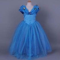 Fantasia Vestido Princesa Cinderela Luxo - Tamanho 6