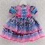 Vestido Festa Junina Infantil Menina Caipira Oncinha Cpc807