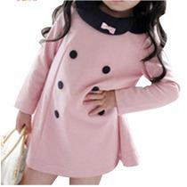 Vestido Infantil Inverno Sobretudo Moletim Blusa Casaco Frio