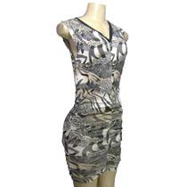 Vestido Periquete Animal Print Viscylra Novidade