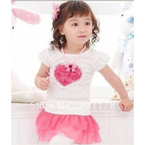 Vestido Sobrelegging Infantil Menina Importado 1 Ano 2 Anos