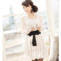 Vestido M Modelo Importado Romântico Feminino Renda Branco