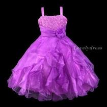 Vestido Infantil Festa. Princesa. Lilás. Lindo