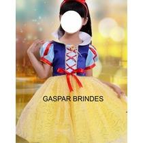 Vestido Branca De Neve - Fantasia Infantil - Festas Carnaval