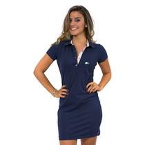 496 - Vestido Polo Hugo Blanc Piquet 95% Algodão 5% Elastano
