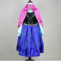 Vestido Infantil De Menina Fantasia Frozen - Princesa Anna