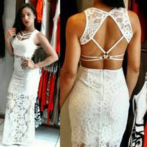Vestidos Femininos Curto Festa Reveillon Em Renda Moda 2016