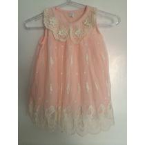 Vestido Infantil Bebê Menina Criança Rosa Tule Renda Pérola