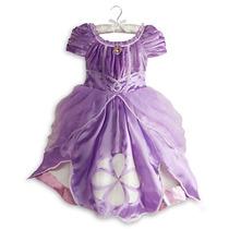 Kit Luxo Princesinha Sofia, Coroa, Vestido E Colar, Original