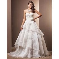 Vestido De Noiva Princesa/decote Coração/com Cauda/importado