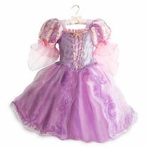 Fantasia Rapunzel Disney Store Oficial Edição Limitada T=5/6