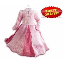 Vestido Fantasia Aurora Bela Limited Edition Luxo 8 Anos