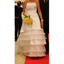 Vestido De Noiva Maravilhoso Rendado Tomara Que Caia
