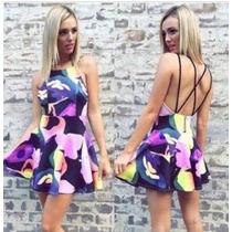 Vestido Estampado Primavera Verão, Moda