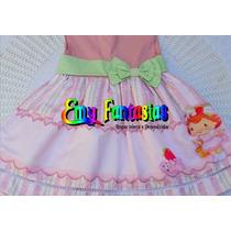 Vestido De Festa Luxo - Moranguinho Baby - 100% Algodão