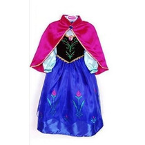 Vestido Fantasia Princesa Frozen Ana Pronta Entrega