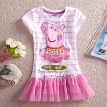 Vestido Infantil Aniversário Peppa Pig Bailarina
