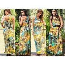 Vestido Longo Floral Estampa Color Roupa Feminina Moda 2016