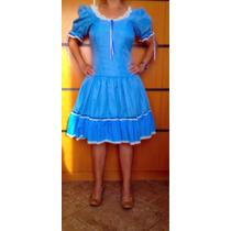 Vestido Junino Caipira Xadrez Adulto Ou Adolescente