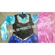 Fantasia Adulto Princesa Anna C Capa Frozen A Pronta Entrega