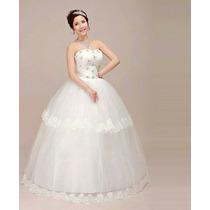Vestido De Noiva Princesa Tomara Que Caia + Anagua E Véu