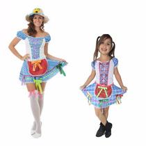 Vestido Festa Junina,caipira,junino,mãe E Filha ,2 Fantasias