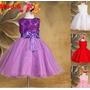 Vestido Infantil Princesa Flores De 2 Anos A 13 Anos! Lindos
