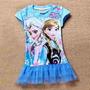 Vestido Princesas Elsa E Anna Frozen - Importado Tam 02 Anos