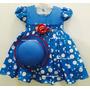 Vestido Fantasia Infantil Galinha Pintadinha Chapéu E Brinde