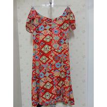 Vestido Estampado - Tecido - Estampa - Abertura Atrás