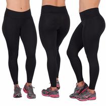 Lote 6 Calça Legging Fitness Em Suplex Preta, Frete Grátis