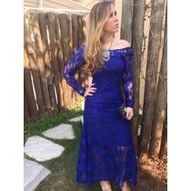 Vestido Longo Renda Festa Madrinha Casamento Formatura #vl1