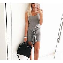 Vestidos Femininos Blusa Com Detalhe Nózinho Nó Viscolycra