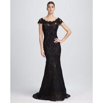 Vestido Eg Feminino Longo Elegante Clássico Preto Em Renda