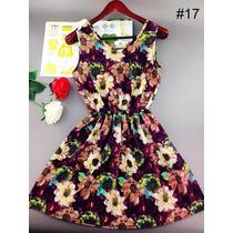 Vestido Elegante Floral Com Elástico Na Cintura