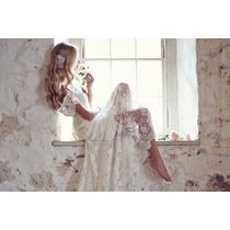 Vestido De Noiva Importado Inteiro Em Renda. Já No Brasil