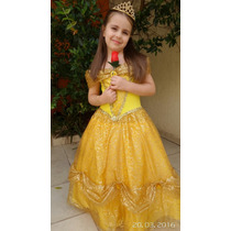 Vestido A Bela E A Fera Fantasia Infantil Festa Aniversario