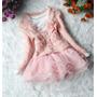Conjunto Infantil Vestido + Casaco Importado Mangas Longas