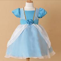 Fantasia Cinderela Azul Infantil
