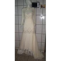 Vestido De Noiva Seda Sereia Bordado 38
