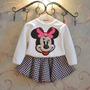 Conjunto Minnie Mouse ( Blusa E Saia) Infantil -