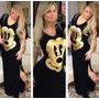 Vestido Mickey Longo Varejo Atacado Melhor Preco Ml $37