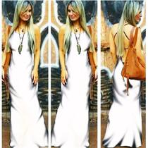 Vestido Feminino Longo Rabo Sereia Drapeado No Bumbum Bojo