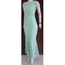 Vestido Longo Sereia Moda Evangelica Renda Festa Casamento